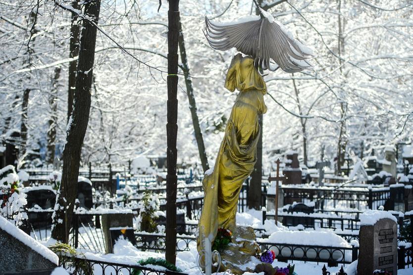 Памятник на могиле Соньки Золотой Ручки (Софьи Блювштейн) на Ваганьковском кладбище. Фото: Евгений Одиноков / РИА Новости
